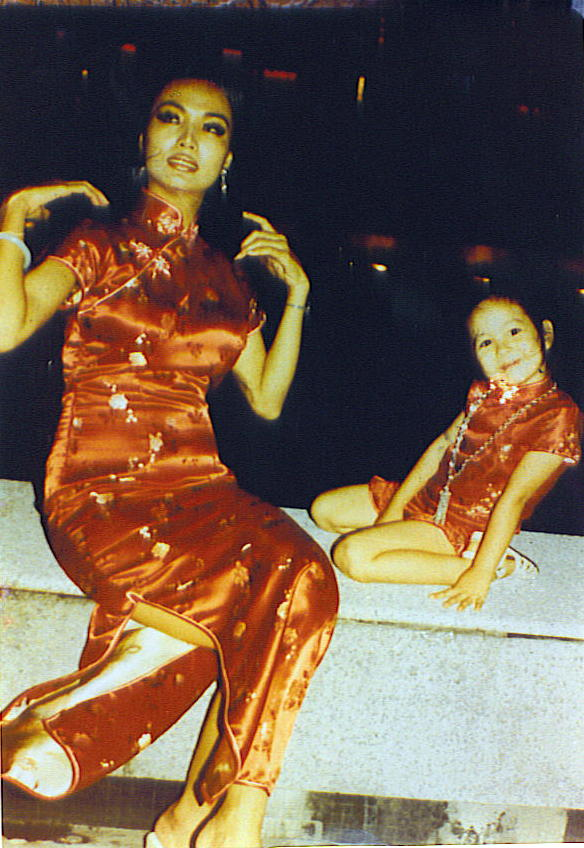 Kalani and her Mother in Hong Kong.
