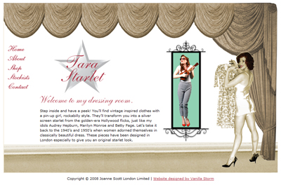 ecd524ea16f Tara Starlet brings you vintage inspired clothes with a Pin-up girl