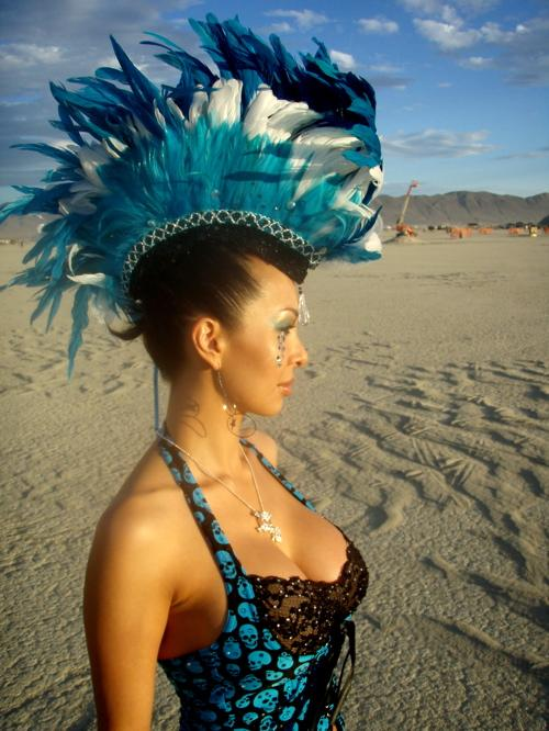 Kalani at Burning Man...
