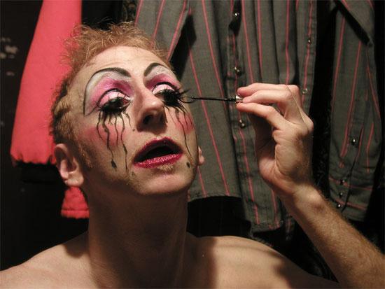 Tigger! prepares backstage. (by Jo Weldon)
