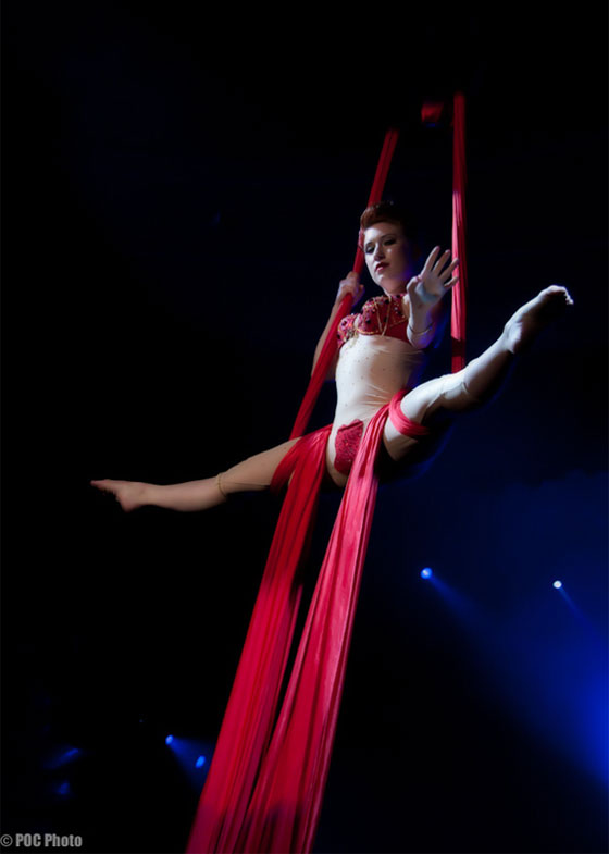 """Angi B. Lovely's silks routine was beautiful...""  (©POC Photo – Please respect copyright and request permission for use.)"