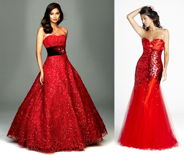 Red Gowns (©Unique Vintage)