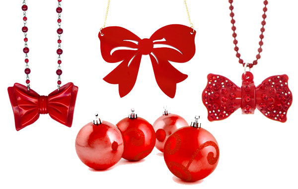 Red Bow Necklaces
