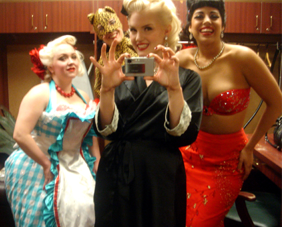 From left to right: Talloolah Love, Scarlett DeVille, Slinky Sparkles and Coco Lectric.  (©Slinky Sparkles. Please show respect and ask permission to use this image.)