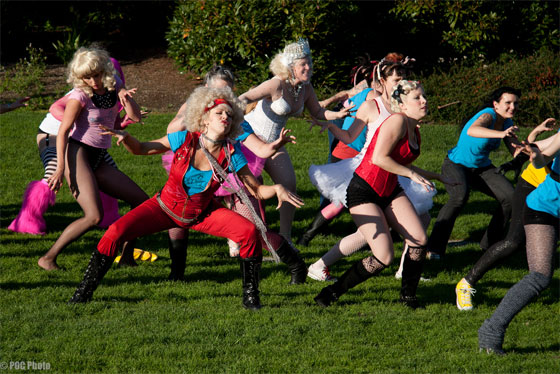 A Lady Gaga Flash Mob at BurlyCon 2010 (©POC Photo)