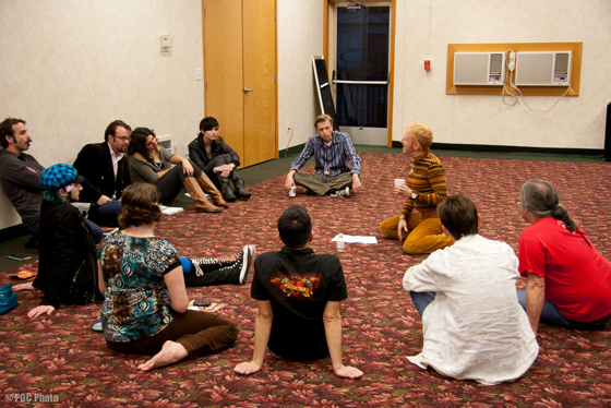 Tigger! leads a class at BurlyCon, and is one of the many excellent instructors who offer workshops each year. 'Hobbyists' and professionals alike come together each year to learn, share knowledge, socialise and debate.  (©POC Photo)