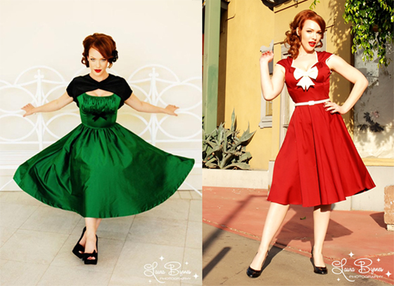 Gorgeous Dresses from Pinup Girl Clothing (©Laura Byrnes)