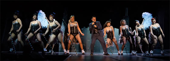 The Starlets perform with Murray Hill in Michelle's spectacular Superstars of Burlesque show in 2011.  © PEZ Photo