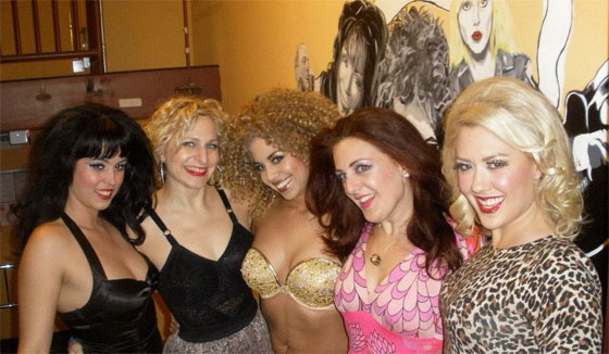 Left to Right: Ginger Valentine, Minnie Tonka, Coco Lectric, Darlinda Just Darlinda and Missy Lisa.  ©Violet O'Hara