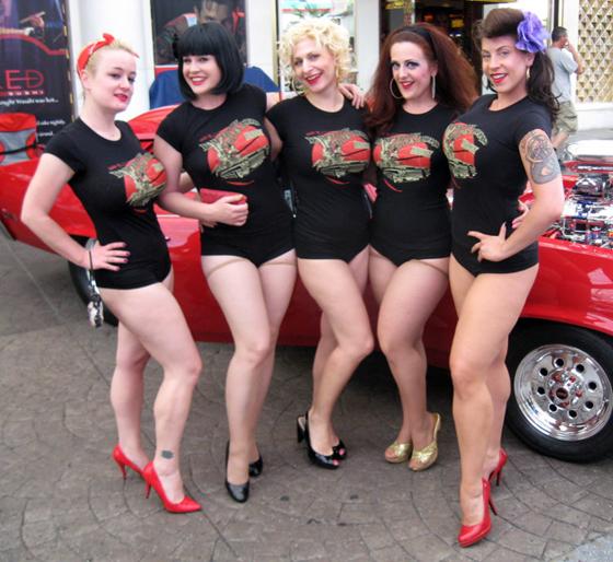 Coming soon to a town near you?: (left to right) Clams Casino, Anita Cookie, Minnie Tonka, Darlinda Just Darlinda and GiGi La Femme.  ©Brett Rollins