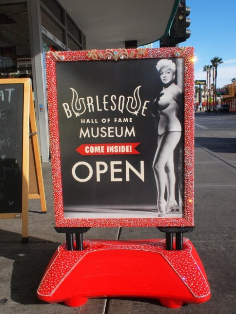 The Burlesque Hall of Fame is located at 520 Fremont Street inside the Emergency Arts building, in historic downtown Las Vegas.  ©BHoF