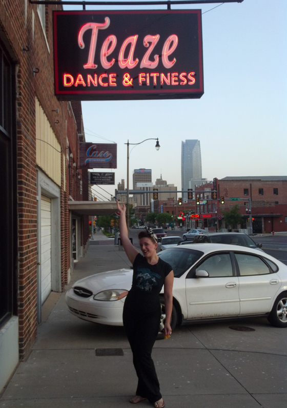 Teaching at Teaze Dance and Fitness in Oklahoma...