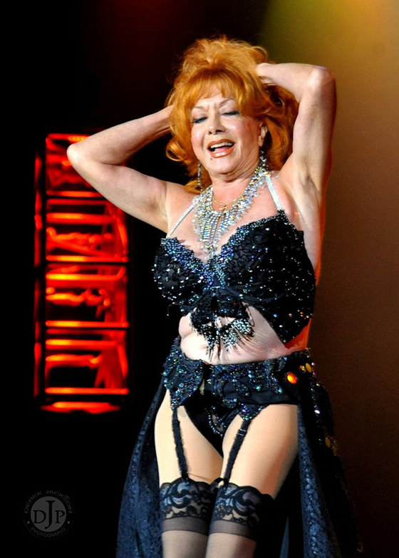 Gina Bon Bon retired from the stage in 2011, and I'm glad I got a good shot of her farewell performance. I really like this photo.  ©Derek Jackson