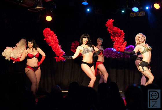 From left to right: Black Mariah, Ginger Valentine, Kay Sera and Missy Lisa.  ©PEZ Photo