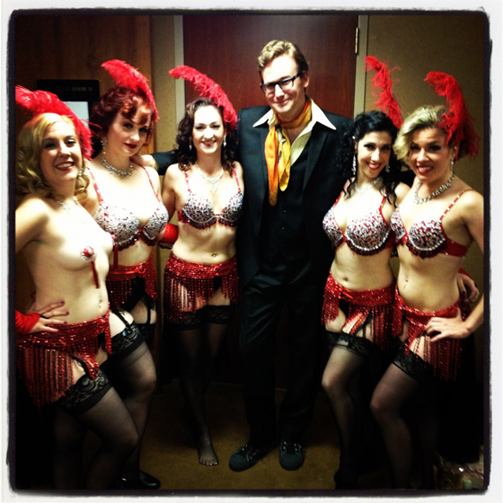Backstage at the All-Stars and Icons show.  From left to right: Ivy Fabulous, Lady Ginger, Lili Bloom, Bastard Keith, Nora Gretz and Honey Halfpint.  ©Frenchie Kiss