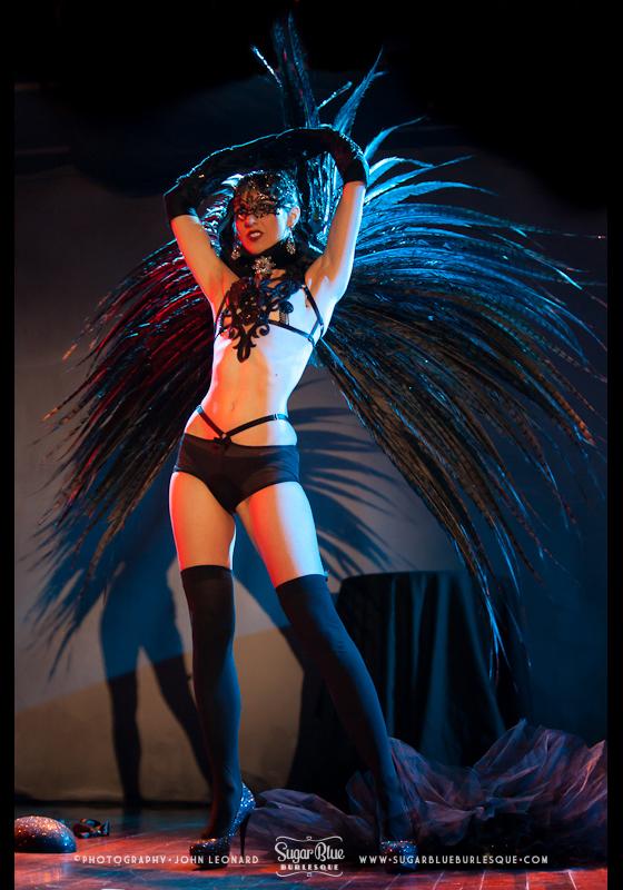 A'dora Derriere performing her 'Black Swan' act.  ©John Leonard