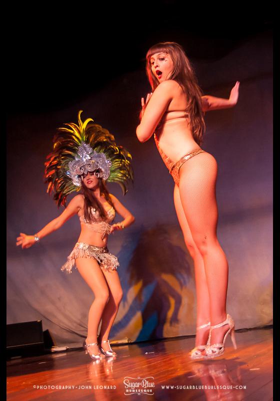 Coco Poppin performing her 'Samba' act.   ©John Leonard