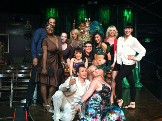The Strip Strip Hooray! cast pose with Melody Sweets and the rest of thr Absinthe cast in Las Vegas.   ©Dirty Martini