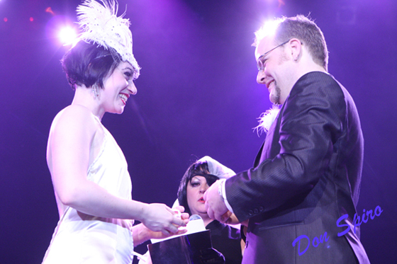 Michelle and Franky say their vows.  ©Don Spiro
