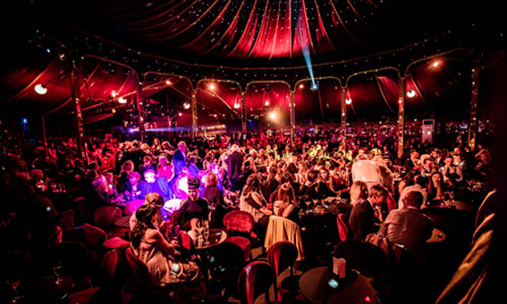 Inside the Spiegeltent. (Forever Crazy)