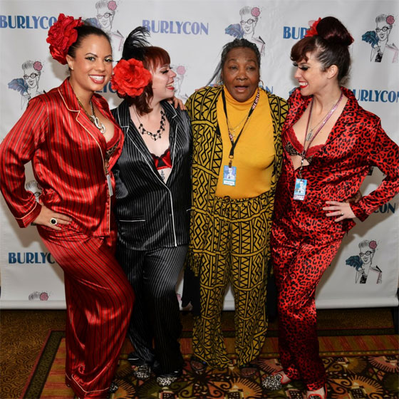 Breakfast with Gorejess, Mafia Minx, Karmen Sutra and Lottie the Body.  ©POC Photo  (BurlyCon 2012)