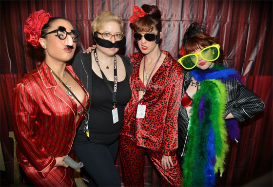 Breakfast with Gorejess, Mafia Minx, Karmen Sutra (far right) and Cherry Killer Tomatoes.  ©POC Photo  (BurlyCon 2012)