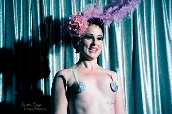 Duchess Dubois' last performance as reigning Octoberfest Champion at the Thursday night launch. Copyright Bernie GoGo.