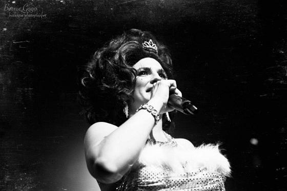 Friday night host Madame Magduschka from The Amazing Knicker Kittens. Copyright Bernie GoGo.