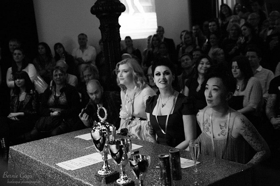 The lovely Octoberfest judges at their table on Saturday night. Copyright Bernie GoGo.